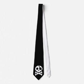 Skull and Crossbones Customizable Background Tie