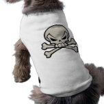 Skull and Crossbones Doggy Tee Doggie Tee Shirt
