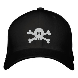Skull and Crossbones Embroidered Baseball Caps