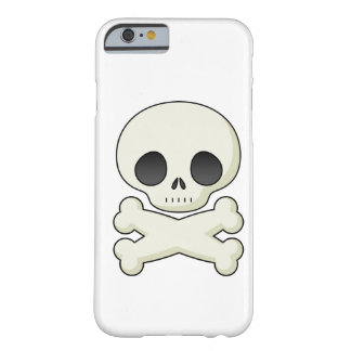 Skull and Crossbones emo kawaii cute goth skulls Barely There iPhone 6 Case