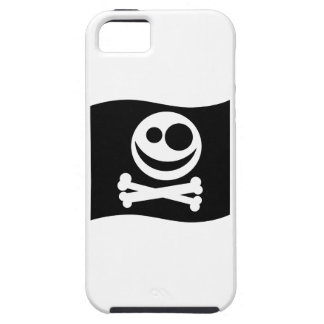 Skull and Crossbones Flag. Black and White. Tough iPhone 5 Case