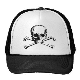 Skull and Crossbones Foam Cap Mesh Hats