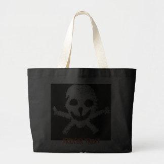 Skull and Crossbones Halloween Tote Bag