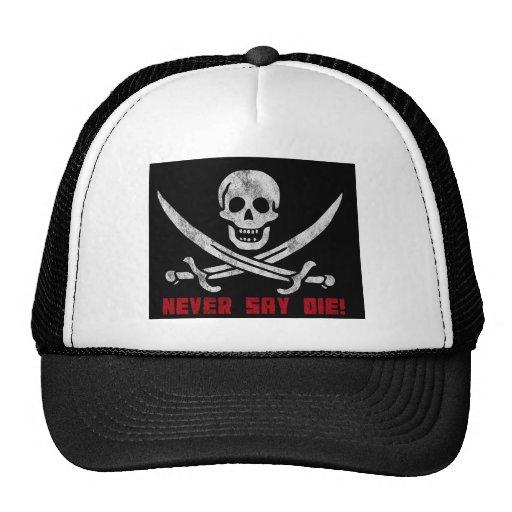 Skull and Crossbones Mesh Hats