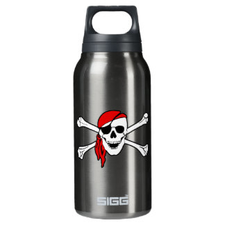Skull And Crossbones Jolly Roger Insulated Water Bottle