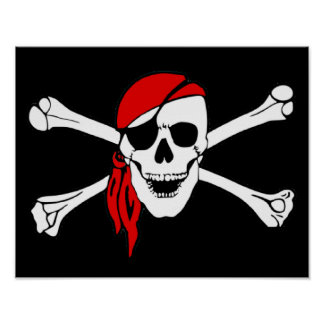 Skull And Crossbones Jolly Roger Poster