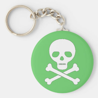Skull and Crossbones Key Ring