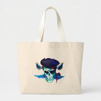 Skull and Crossbones Large Tote Bag