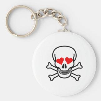 Skull And Crossbones Love Keychains