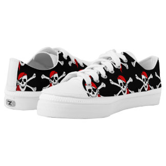 Skull and Crossbones Low Tops