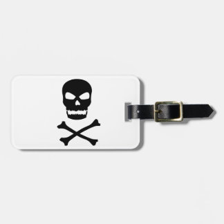 Skull and Crossbones Luggage Tag