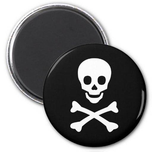Skull and Crossbones Fridge Magnets