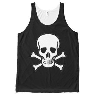 Skull and Crossbones on Unisex Tank Top
