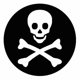 Skull and Crossbones Cut Out