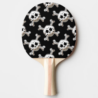 Skull and Crossbones Ping Pong Paddle