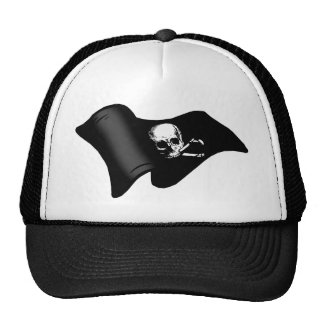Skull and crossbones Pirate flag Mesh Hat