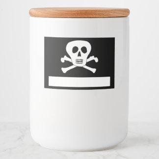 Skull and Crossbones Pirate Food Label