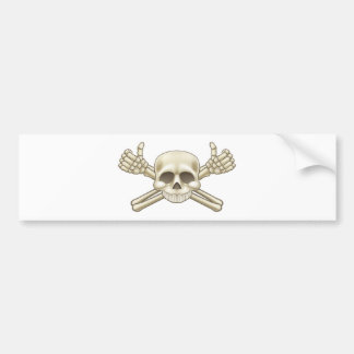 Skull and Crossbones Pirate Sign Bumper Sticker