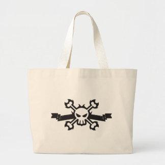 Skull and Crossbones Pirate Tattoo Tote Bag