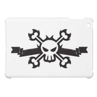 Skull and Crossbones Pirate Tattoo iPad Mini Cover