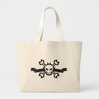 Skull and Crossbones Pirate Tattoo Large Tote Bag