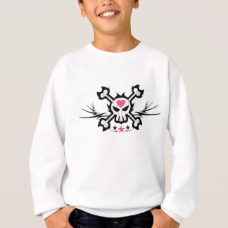 Skull and Crossbones Pirate Tattoo Sweatshirt