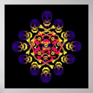 skull and crossbones print