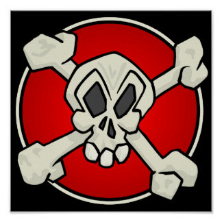 Skull and Crossbones Poster Print