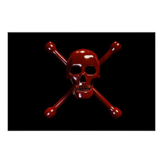 Skull and Crossbones- Red Death Poster