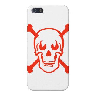 skull and crossbones skeleton evil head demon iPhone 5 covers