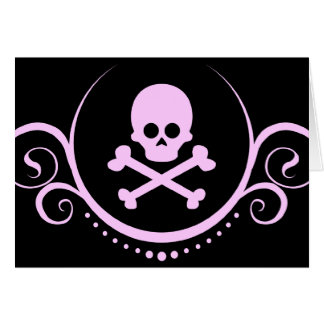 skull and crossbones sophistications greeting card
