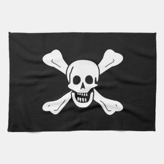 Skull and Crossbones Tea Towel