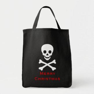 Skull and Crossbones Grocery Tote Bag