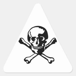 Skull and Crossbones Triangle Sticker