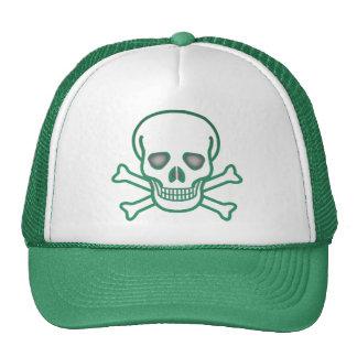 Skull And Crossbones Trucker Hat (green)