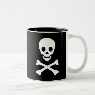Skull and Crossbones Two-Tone Coffee Mug