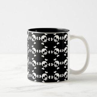 Skull and Crossbones Two-Tone Coffee Mug
