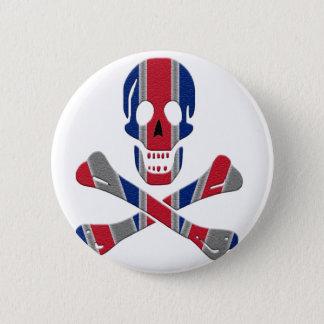 Skull and Crossbones Union Jack 6 Cm Round Badge