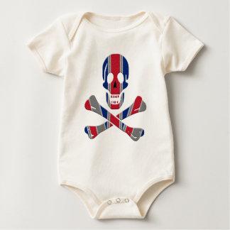 Skull and Crossbones Union Jack Baby Bodysuit