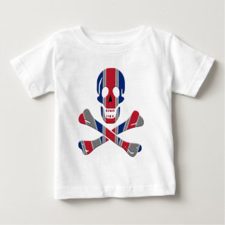 Skull and Crossbones Union Jack Baby T-Shirt