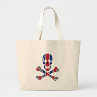 Skull and Crossbones Union Jack Jumbo Tote Bag