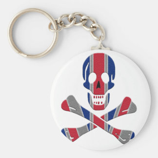 Skull and Crossbones Union Jack Key Ring