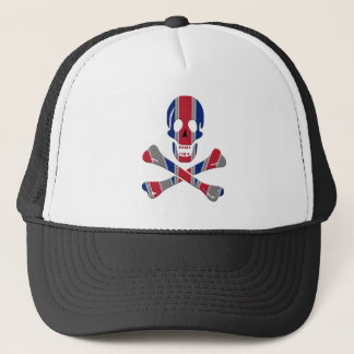 Skull and Crossbones Union Jack Trucker Hat