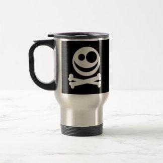 Skull and Crossbones. White and Black. Travel Mug