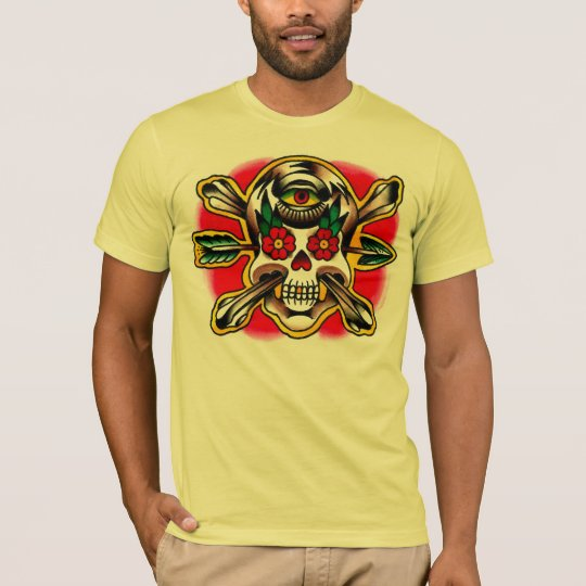 Skull and Crossbones with arrow and a third eye T-Shirt