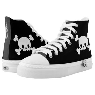 Skull and Crossbones Zipz High Top