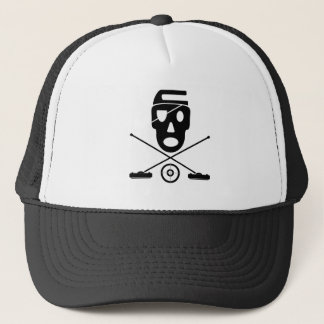 Skull and Crossbrooms - Curling Design Trucker Hat