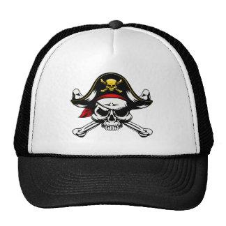 Skull and Crossed Bones Pirate Cap