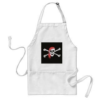 Skull and Crossed Bones Pirate Flag Standard Apron