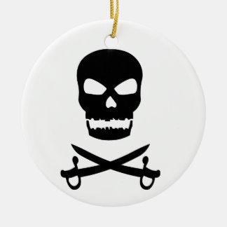 Skull and Crossed Swords Christmas Tree Ornament